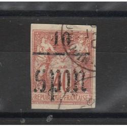 S PIERRE ET MIQUELON 1885 ALLEGORIA SOPRASTAMPATA 1 VAL USATO YVERT N  6MF51294