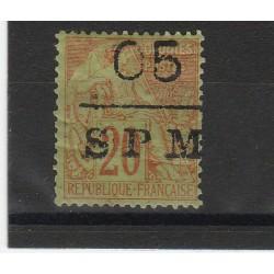 S PIERRE ET MIQUELON 1885 ALLEGORIA SOPRASTAMPATA 1 VAL USATO YVERT N  6 MF51294