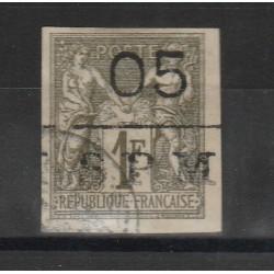 S PIERRE ET MIQUELON 1885 ALLEGORIA SOPRASTAMPATA 1 VAL USATO YVERT N  8 MF51298