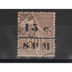 S PIERRE ET MIQUELON 1885 ALLEGORIA SOPRASTAMPATA 1 VAL USATO YVERT N  11  MF51299