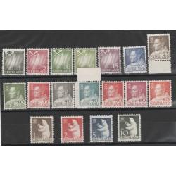1963-68  GROENLANDIA GRONLAND  CRISTANO IX ORSO AURORA BOREALE  18 VAL MNH  MF51275