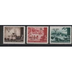 1942 CROAZIA  REGNO CROATO  3 VAL NUOVI  MNH  MF51361