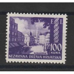 1942 CROAZIA  EXPO FILATELICA  1 VAL NUOVO  MNH  MF51342