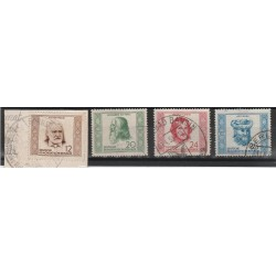 1952  GERMANIA DDR UOMINI ILLUSTRI  4 V USATI  MF51370