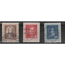 1952  GERMANIA DDR MUSICISTI FAMOSI  3 VAL USATI MF51376
