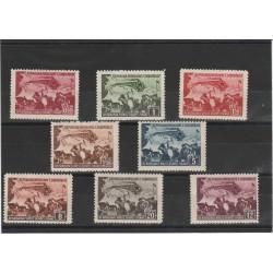 1948 ALBANIA FERROVIA DURES - TIRANA 8 VAL  MNH UNIF 448/56 MF51369