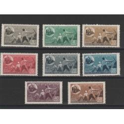 1947 ALBANIA FERROVIA DURES - ELBASAN  8 VAL MNH UNIF MF51362