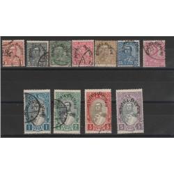 1928 ALBANIA DEFINITIVA SOPRASAMPA DIVERSA  11 VAL USATI MF51384