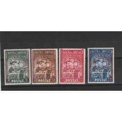 1945 ALBANIA SERIE PRO CROCE ROSSA 4 VAL  MNH MF51366