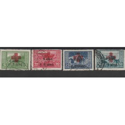 1924 ALBANIA SHQIPTARE  CROCE ROSSA 4 VAL MLH UNIF  N 100/103 MF51380