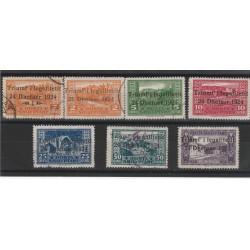 1925 ALBANIA CADUTA REGIME 7 VALORI USATI UNIF N 104/110  MF51378