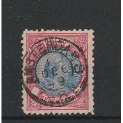 1891-97 OLANDA NEDERLAND 2g1/2 REGINA GUGLIELMINA  N 47 - 1 V  USATO  MF51407