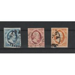 1852 OLANDA NEDERLAND GUGLIELMO III - N 1/3 TRE VAL USATI  MF51408