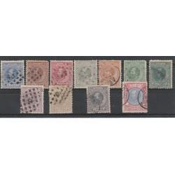 18702-88  OLANDA NEDERLAND GUGLIEMO III  11 VALORI USATI MF51411