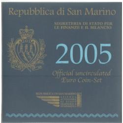 2005 SAN MARINO DIVISIONALE EURO  9 MONETE FDC IN CONFEZIONE MF25520