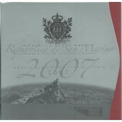 2007 SAN MARINO DIVISIONALE EURO 9 MONETE FDC IN CONFEZIONE MF25521