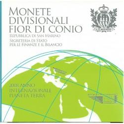 2008 SAN MARINO DIVISIONALE EURO 9 MONETE FDC IN CONFEZIONE MF25522