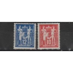 1949 GERMANIA DDR SINDACATI POSTALI  2 VAL MLH   MF51480