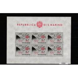 1962  SAN MARINO EUROPA UNITA LIRE 200 FOGLIETTO NUOVO INTEGRO MF51522