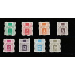 SINGAPORE 1968  SEGNATASSE 8 VAL MNH MF51538