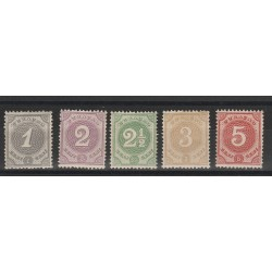 CURACAO  1889  CIFRE   YV 13/17  5 V  MLH   MF51568