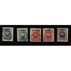 1923 LITUANIA LIETUVA OCCUPAZIONE LITUANA DI  MEMEL  5 VAL USATI MF51552
