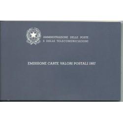 1987 ITALIA REPUBBLICA LIBRO DEI FRANCOBOLLI COMPLETO MF25537