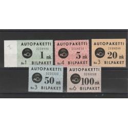 1949  FINLANDIA  PACCHI POSTALI  5  VAL MNH  MF51581