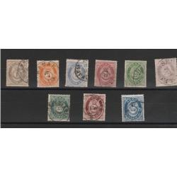 1877 NORVEGIA NORGE  CORNO DI POSTA N 22/31 - 10 VAL USATI MF51626