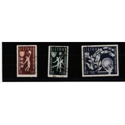 1938 LITUANIA LIETUVA BASKET  3 VAL USATI MF51679