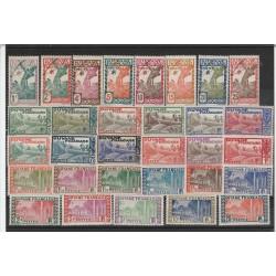 GUYANA GUYANE 1929-38 DEF  VEDUTE VARIE 31 MLH YV 109-32 MF51703