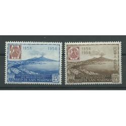 1958 SAN MARINOCENTENARIO FRANCOBOLLI DI NAPOLI 2 V  MNH MF25607