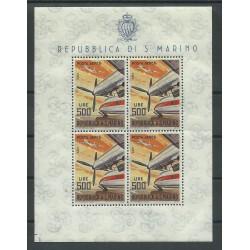 1965 SAN MARINO PA AEREI MODERNI LIRE 500 FOGLIETTO NUOVO INTEGRO MF25615