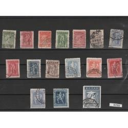 1911 GRECIA GREECE SOGGETTI DIVERSI 16 VALORI USATI  MF51747