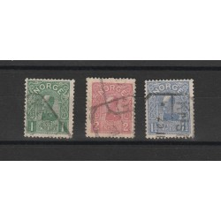 1907 NORVEGIA NORGE  EFFIGE MAKOON II  3 VAL USATI MF51639