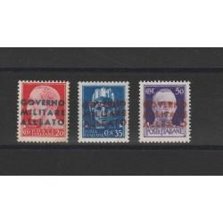 1943 NAPOLI OCCUPAZIONE ANGLO AMERICANA 3 VALORI NUOVI   MF51804