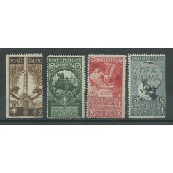 1911 REGNO ITALIA SERIE CINQUANTENARIO UNITA ITALIA 4 VALORI MNH MF23271