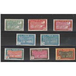 TOGO 1926-27 VEDUTE DIVERSE  8 V MLH YVERT 144/51 MF51806