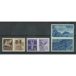 1942 REGNO PROPAGANDA DI GUERRA POSTA AEREA NON EMESSI CENTRATI 3 V MNH BOLAFFI MF25711