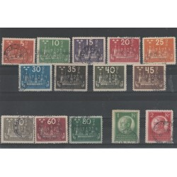 1924 SVEZIA  8 CONGRESSO  UPU 14 VAL USATI  N° 183A AL 176   MF51893