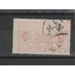 1874/86  SVEZIA SERVIZIO  N 7B  - 1 V USATO   MF51875