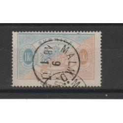 1874/86  SVEZIA SERVIZIO  N 11B  - 1 V USATO   MF51874
