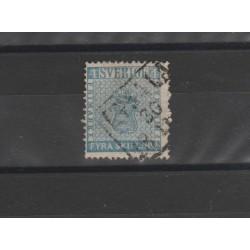 1855 SVEZIA STEMMA  N 2 - 1 V USATO MF5181