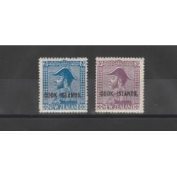COOK ISLAND 1937 SOPRASTAMPATI 2 VAL MNH  MF51924
