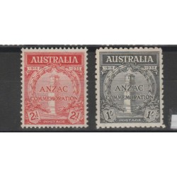 1935 AUSTRALIA  20° ANNIV . ANZAC  2 VAL MNH MF51927
