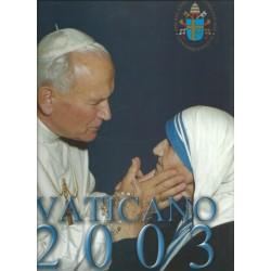 2003 VATICANO LIBRO UFFICIALE COMPLETO RACCOLTA EMISSIONI FILATELICHE MF25791