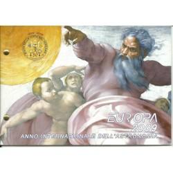 2009 VATICANO 2 EURO ANNO INTERN. ASTRONOMIA BUSTA FILATELICO NUMISMATICA FDC