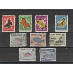CUBA 1958  POEY  9 VAL MNH  MF51956