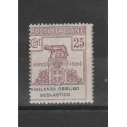 1924 REGNO ENTI PARASTATALI VIG OBBLIGO SCOLASTICO  1 VAL  MF51998