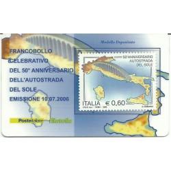 2006 TESSERA FILATELICA AUTOSTRADA DEL SOLE MF25754